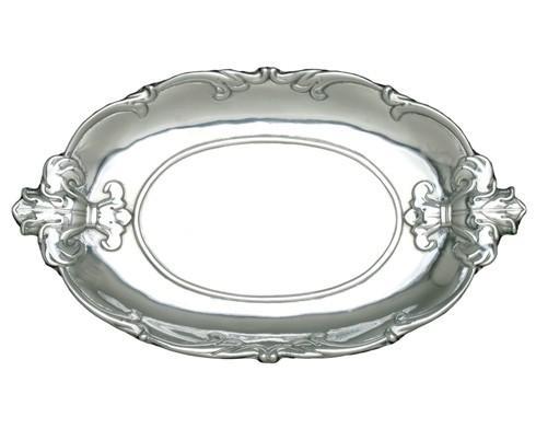 Arthur Court  Fleur-De-Lis Oval Tray $55.00
