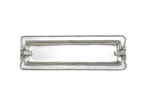 Arthur Court  Longhorn Oblong Tray W/Braid $49.00