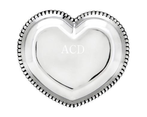 $39.00 Beaded Heart Tray