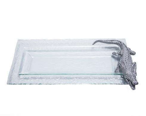 $65.00 Glass Oblong Tray