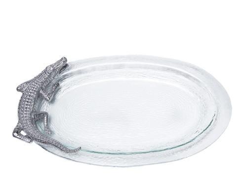Arthur Court  Alligator Glass Platter $89.00
