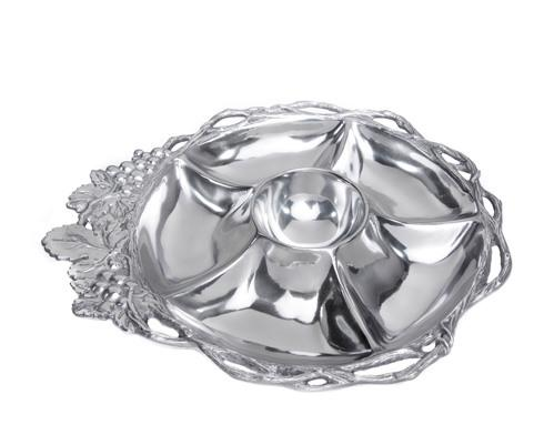 $150.00 Open Vine Round 5-Section Tray