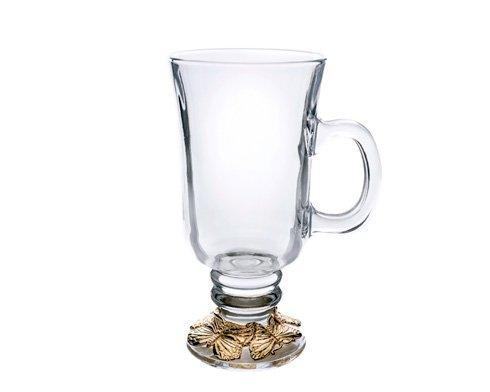 Glass Beverage Mug-24K Gold Plated