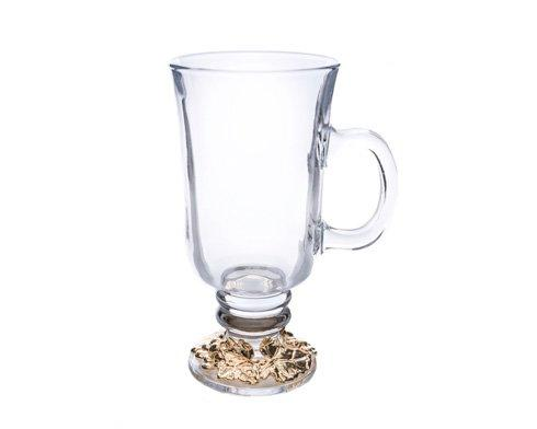 $25.00 Glass Beverage Mug 24K Gold Plated