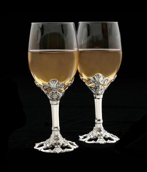 Arthur Court  Fleur-De-Lis Wine Glass Set/2 $89.00
