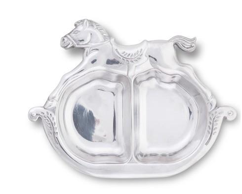 $33.00 Divided Plate - Rocking Horse