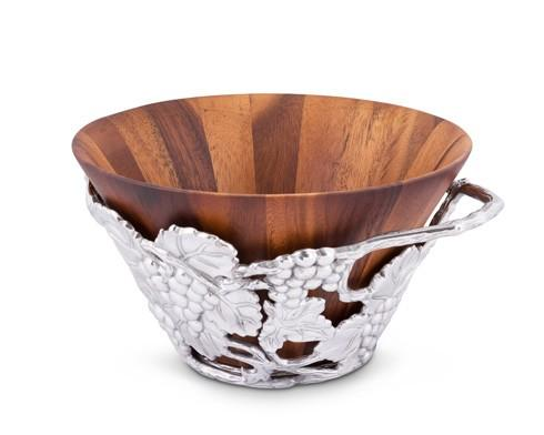 Arthur Court  Grape Wood Tall Salad Bowl $225.00