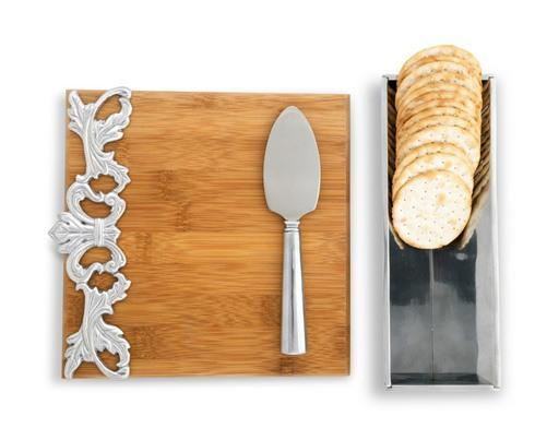 $75.00 Cheese Set - Acanthus Bamboo Board