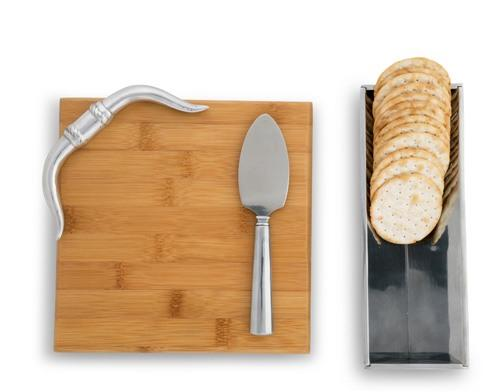 $75.00 Cheese Set - Longhorn Bamboo Board