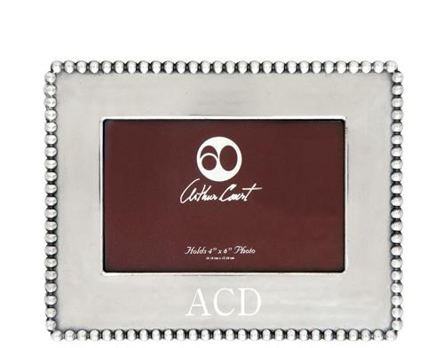 Arthur Court  Engravable  Beaded Photo Frame 4