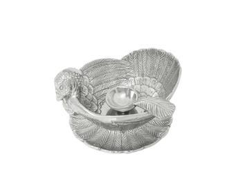 $85.00 Turkey 3 Pc. Condiment Server