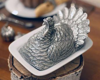 $264.00 Turkey Butter Dish
