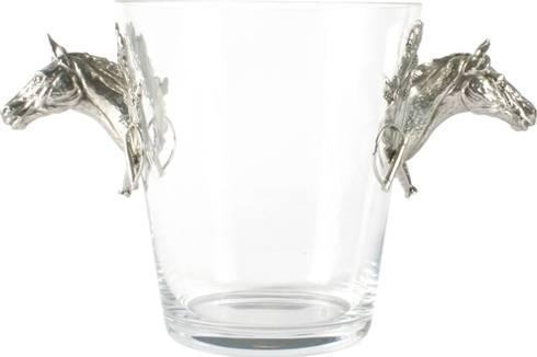 Vagabond House  Equestrian Ice Bucket -  Glass - Horse Head $330.00