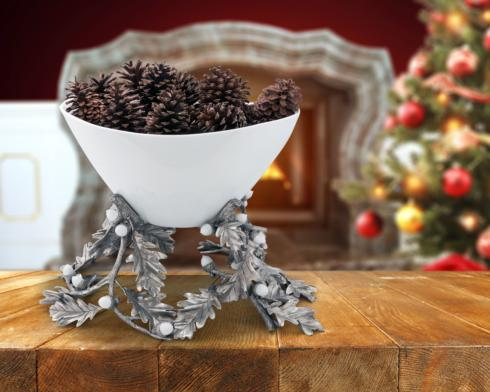 $1,500.00 Centerpiece Bowl Porcelain Oak Leaf Acorns
