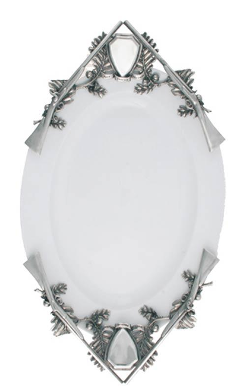 $415.00 Porcelain Tray Large - Hunt Tray