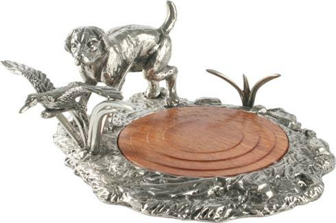 Vagabond House  Morning Hunt Wine Coaster - Lab And Duck $165.00