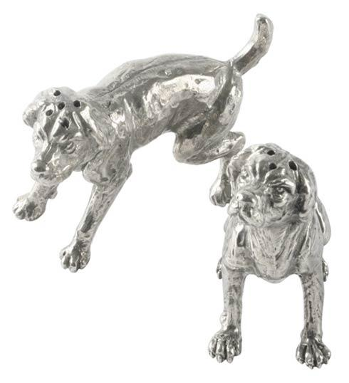 $68.00 Pewter Spaniel Salt & Pepper Set