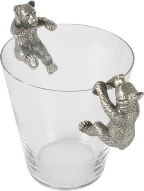 $264.00 Bear Ice Bucket - Pewter And Glass