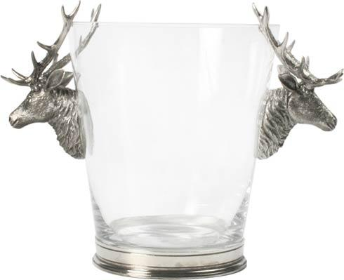 $315.00 Ice Bucket Glass - Deer Head