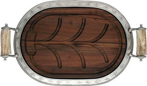 $869.00 Carving Board Large - Pewter Leaf