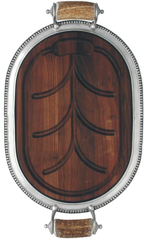 $627.00 Carving Board Small - Pewter Medici