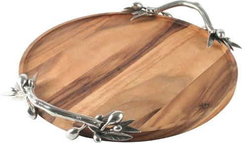 $286.00 Olive Tray - Acacia Wood - Large Round