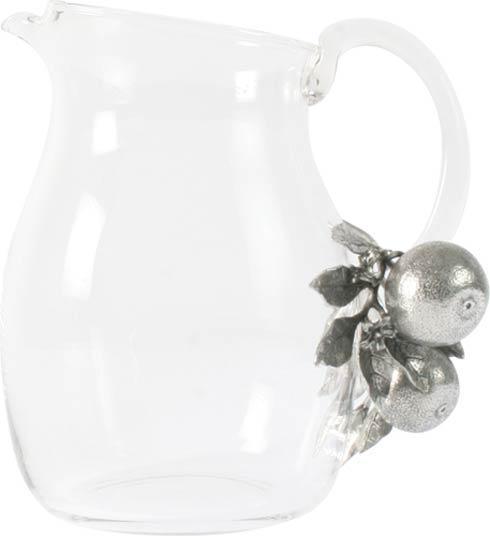 Vagabond House  Farmer's Market Glass Pitcher - Orange Blooms $136.00
