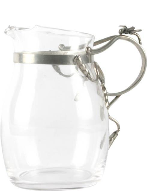 $88.00 Glass Pitcher - Small - Dragonflies