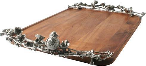 $495.00 Tray - Acacia - Song Bird - Large