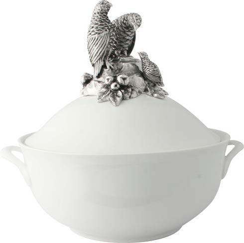 $264.00 Soup Tureen - Porcelain - Quail