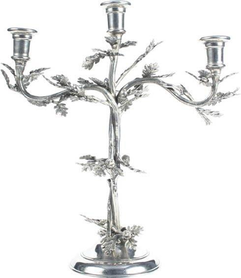 $385.00 Candlestick - Oak Leaf  3 Arm