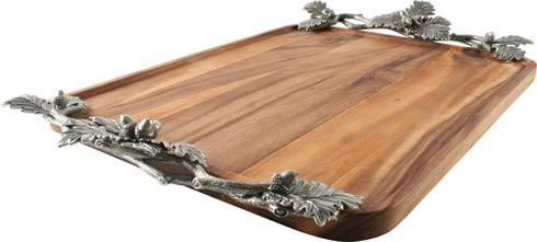 $484.00 Tray - Acacia - Acorn Oak Leaf - Large