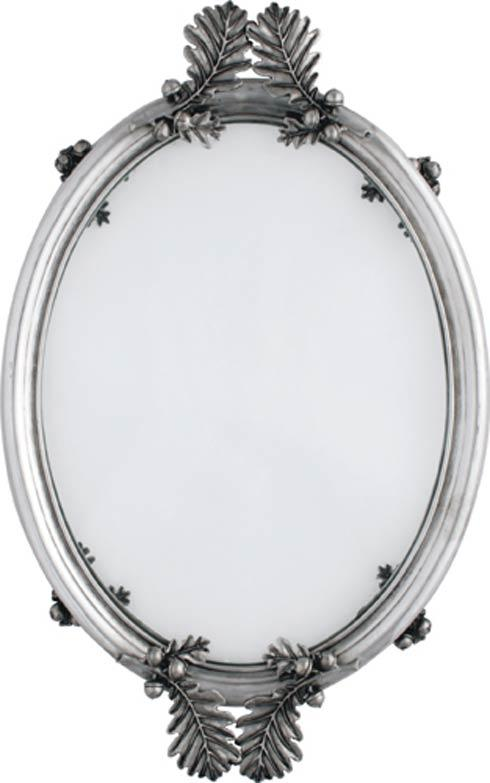 $308.00 Oval Tray Leaf Handles