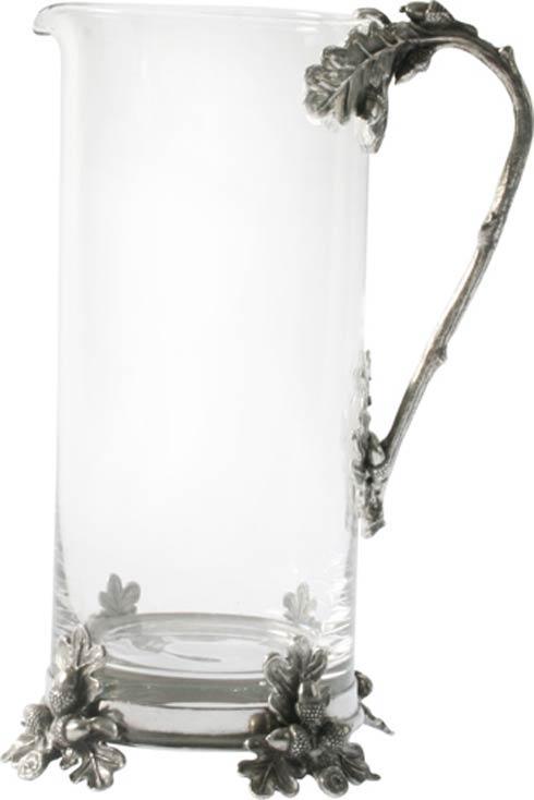 $209.00 Pitcher Glass - Acorn Oak Leaf