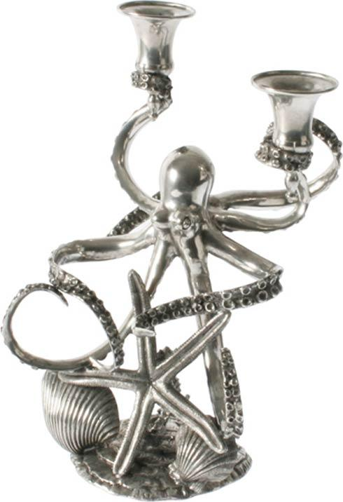 Vagabond House  Sea And Shore Candlestick - Octopus 2 Arm $495.00