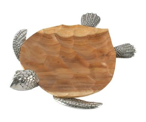 Vagabond House  Sea And Shore Tray - Wood - Sea Turtle Med $260.00
