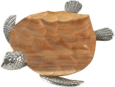 Vagabond House  Sea And Shore Tray - Wood - Sea Turtle - Large $510.00