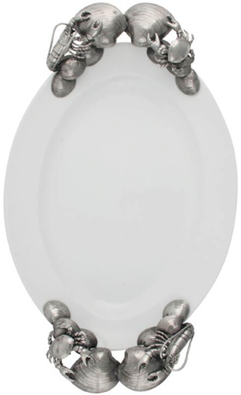 Vagabond House  Sea And Shore Porcelain Tray Large - Ocean $399.00