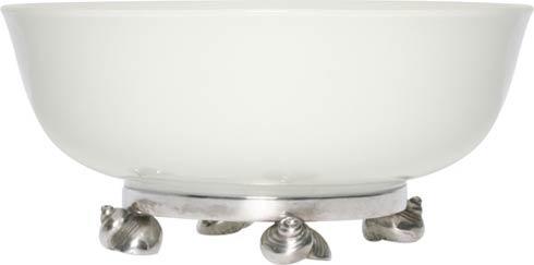 Vagabond House  Sea And Shore Porcelain Bowl - Sea Shell $114.00