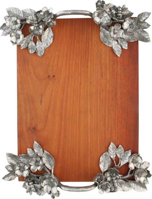 $440.00 Wood Tray - Flower And Bees