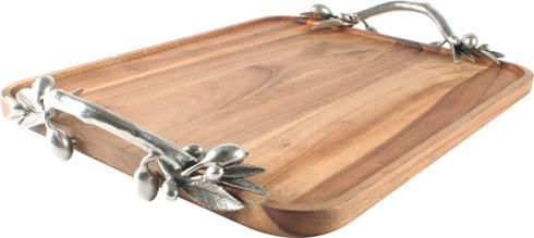 $286.00 Olive Tray - Acacia Wood - Large Rec