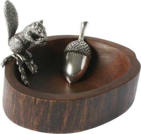Vagabond House  Whimsical Creatures Nut Bowl - Squirrel Standing With Scoop $84.00