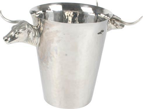 $550.00 Ice Bucket - Hammered Steel - Steer