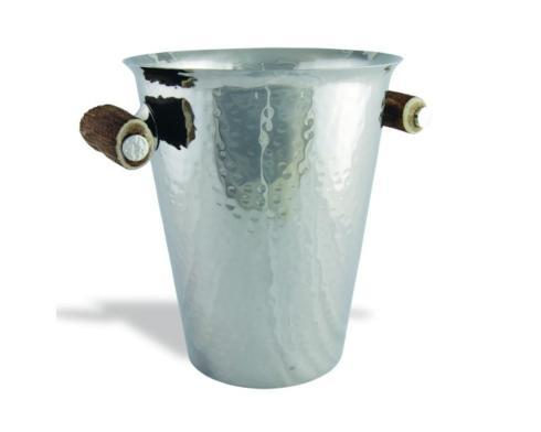 Vagabond House  Lodge Style Ice Bucket - Hammered Steel - Antler $517.00