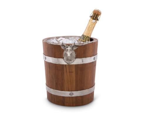 Vagabond House  Lodge Style Elk Wood Pail Ice Bucket $284.00