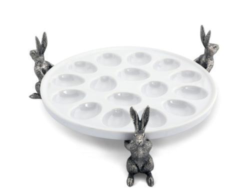 Vagabond House  Farmer\'s Market Rabbit Deviled Egg Tray $190.00