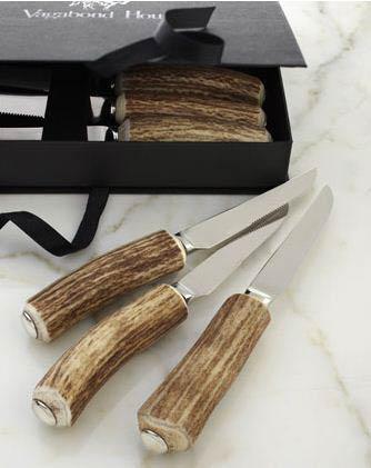 Vagabond House  Horn Rustic Steak Knives - Set of 6 $290.00
