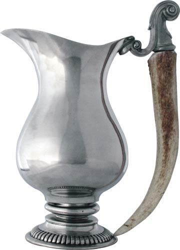 Vagabond House  Lodge Style Pitcher - Pewter Shed Horn Handle $440.00