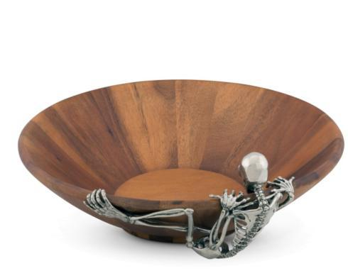 $175.00 Skeleton Wood Salad Bowl