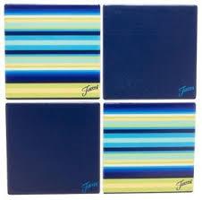 Coasterstone Coasters, Blue Stripe
